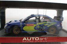 1-18 Autoart Subaru New Age Impreza WRC Solberg/Mills 2004 Winner Rally Japan.