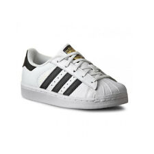 Adidas Originals Superstar Junior Bianco/nero in Pelle Formatori Scarpe 31.5 EU