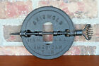 """Griswold American Cast Iron Antique 7"""" Reversible Stove Pipe Damper"""