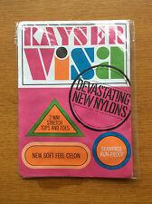 Vintage Kayser Visa Womens Seamfree Stockings, Nylons, Size 10 Long, Brown Celon