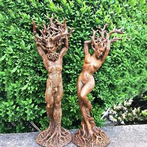 Forest Goddess Statue Resin Ornaments Garden Handicraft Tree God Ornament