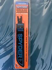 """New listing Spyder Bore-Blade For Reciprocating Saw-Blades: in 6"""", 8"""", 10"""""""