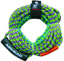 """Airhead Boat Marine 4 Rider 2 Section Tube Tow Rope 50' or 60' Length 5/8"""" Line"""