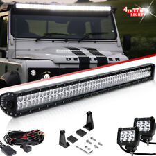 "52"" 300W LED Light Bar Combo+2x 4"" Fog Lights Land Rover Defender Roof Mounting"