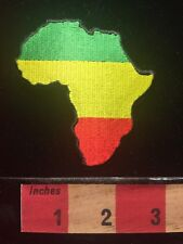 AFRICA MAP PATCH Pan-African Continent Outline Green Yellow (Gold) Red 68D1