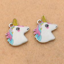 5pcs Enamel Unicorn Charm Pendant for Jewelry Making Bracelet Accessories DIY