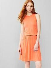 NWT - Misses GAP Gap Racerback Rayon Tangerine Dress - Size Large Petite