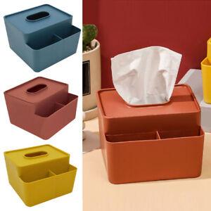 Tissue Box Living Room Remote Control Storage Napkin Paper Holder Coffee Table