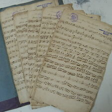 orchestra parts OUVERTURE : DAS CASTELL VON ORSINI ursino , antique handwritten