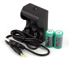 Exposure Lights USB Charger & 2 x Rechargeable RCR123A Lithium Ion Batteries