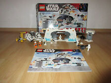 Lego Star Wars 7666 Hoth Rebel base con figuras, Plano de edificio & OVP