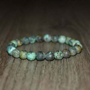 African Turquoise 6MM Handmade Loose Beads 2 Stretch Special Bracelet For Unisex