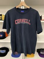 Vintage Champion Cornell University Shirt Sz M Blue College Spell Out Rare 90s