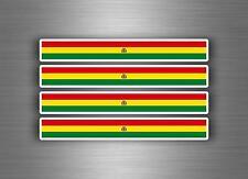 4x sticker decal car stripe motorcycle racing flag bike moto tuning bolivia