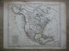 Belle carte - Amerique Septentrionale / North America - Atlas Hérisson, 1806