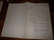 1869.Lettre autographe à Pierre Zaccone.Eugène de Mirecourt