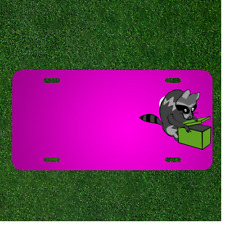 Custom Personalized Car License Plate With Add Names To Raccoon Animal Mammal