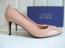 NIB $365 Stuart Weitzman Pinot Heels Pumps Shoes Adobe Aniline Nude Beige sz 7