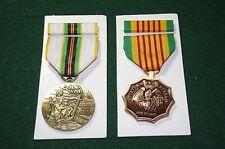 2 Medal Set w/ribbons Vietnam Era and Cold War Service Medals