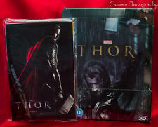 Thor 3D+2D Zavvi Steelbook™ + Lenticular Magnet + Marvel Art Cards * Rare NEW