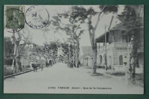 INDO CHINA STAMP COVER CARD 1907 TONKIN HANOI   (A195)