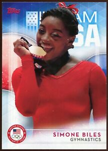 2016 Topps US Olympic & Paralympic SIMONE BILES #38 Rookie - Team USA Tokyo 2020