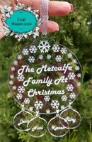 Personalised Family Christmas Tree Bauble, Family Christmas Decoration, Stunning