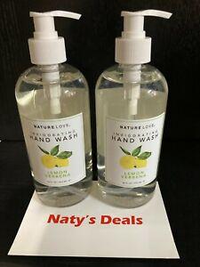 NATURE LOVE Lemon Verbena Invigorating Hand Wash (Lot of 2) 16 0z Each