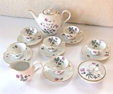 HEINRICH H&G Selb Bavaria Germany Mid-Century Demitasse Tea Set 17 Pieces MINT