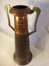vase, pichet art nouveau en cuivre, 19ème jugendstil art and craft secessionnist
