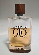 GIORGIO ARMANI Acqua di Gio Absolu 125ml Eau de Parfum Spray USED 60% Full