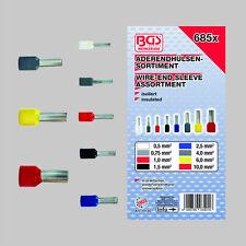 BGS 685 Aderendhülsen Sortiment Aderendhülse Set Presshülsen isoliert