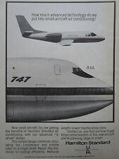 9/1970 PUB HAMILTON STANDARD 3 WHEEL AIR CONDITIONING BOEING 747 ORIGINAL AD
