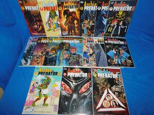 Archie vs Predator II 2019 1-5 Complete Set + Variants 16 Book Lot 1 2 3 4 5