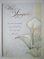 """WITH SYMPATHY"" CALLA LILY GREETING CARD + DESIGNER ENVELOPE"