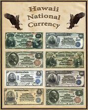 """Hawaii U S Large National Bank Notes 16""""x20"""" Poster Part of a State set"""