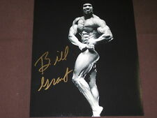MR.AMERICA & MR. WORLD BILL GRANT PUMPING IRON W/ARNOLD AUTO 8X10 W/COA