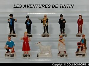 SERIE COMPLETE DE FEVES TINTIN