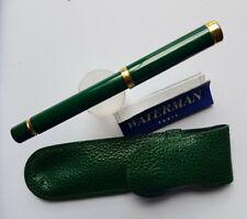 Stylo plume waterman lady - couleur vert et plaqué OR - occasion avec housse.