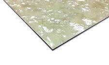 Pickguard sheet, white pearloid 3 Ply (B/W/B/WP) 450x300x2.5 mm