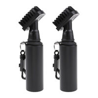 2x Self-Contained Water Brush Club Cleaner Brushes Equipment with Snap Clip