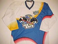 Austin Ice Bats WPHL CHL 1996-2008 Unisex Vintage Blue White Hockey Jersey XL