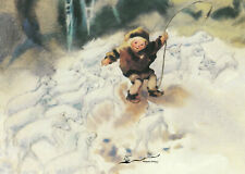 Postkarte: Mili Weber - Der gute Hirte / Schafe