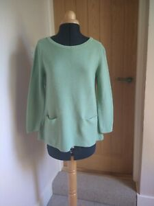 Cos Jumper Green Size S 8-10 Worn Once 3/4 Sleeves Pockets