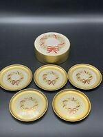 OTAGIRI JAPAN Lacquerware Set of 6 Coasters with Storage Container Wreath