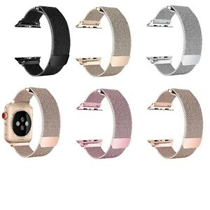 For Apple Watch 44 42 40 38m Replacement Band Milanese Loop Steel Series 4 3 2 1