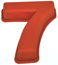 NR 7 X Numbers Shaped Silicone Birthday Cake Mould Kids Baking Tray Sugarcraft