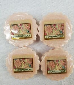 Lot of 4 Yankee Candle Tarts New Old Stock- SNOWFLAKE COOKIE- Ships free- SEALED