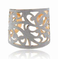 Brillanti Bracciale Rigido Bangle 5,6 cm larghezza color-argento e