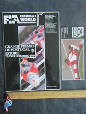 Grand Prix Portugal Formula Racing Program & pamphlet - Ayrton Senna - 1989